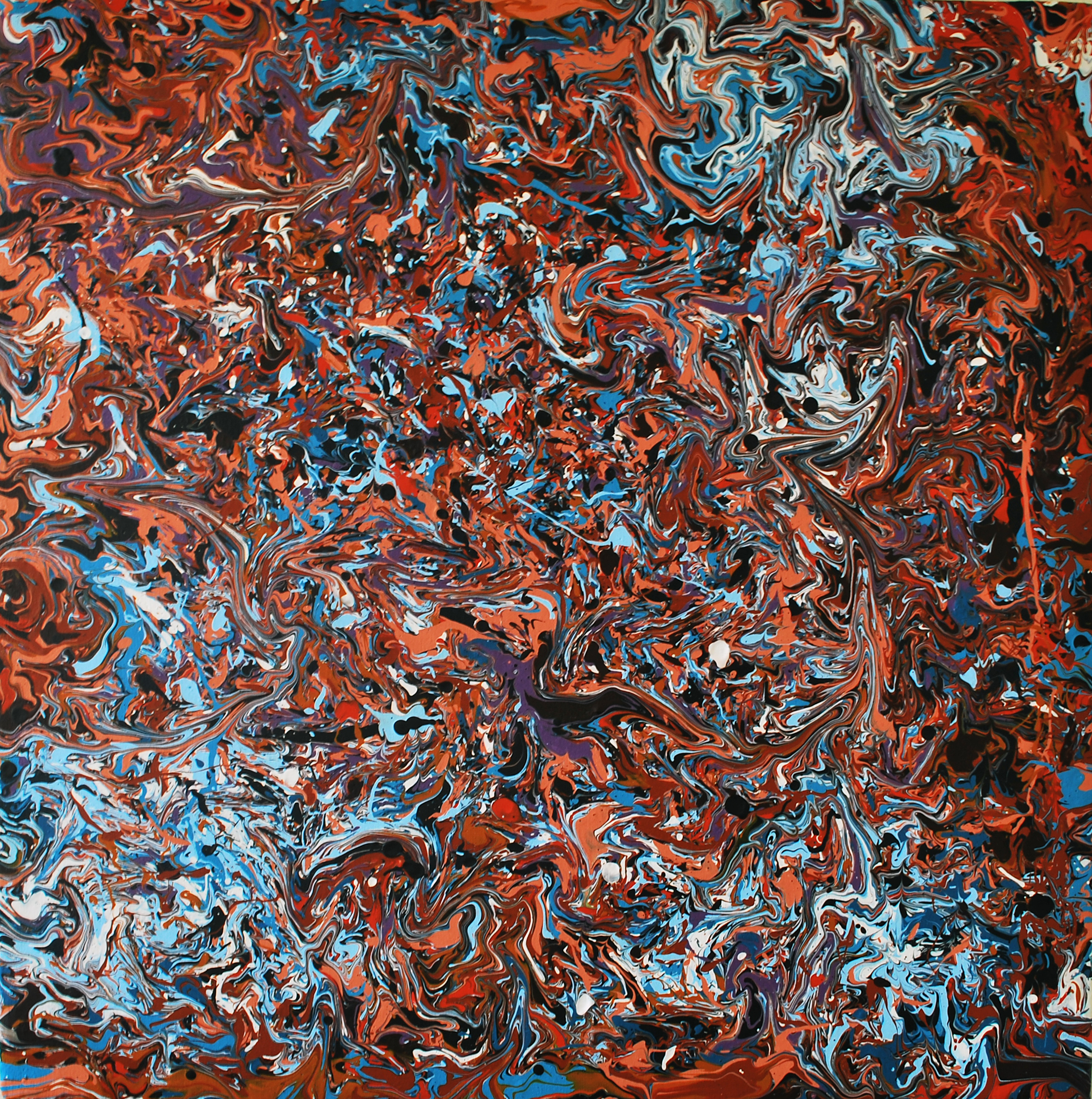 Freezing Over - Large Abstract By Phil Connor