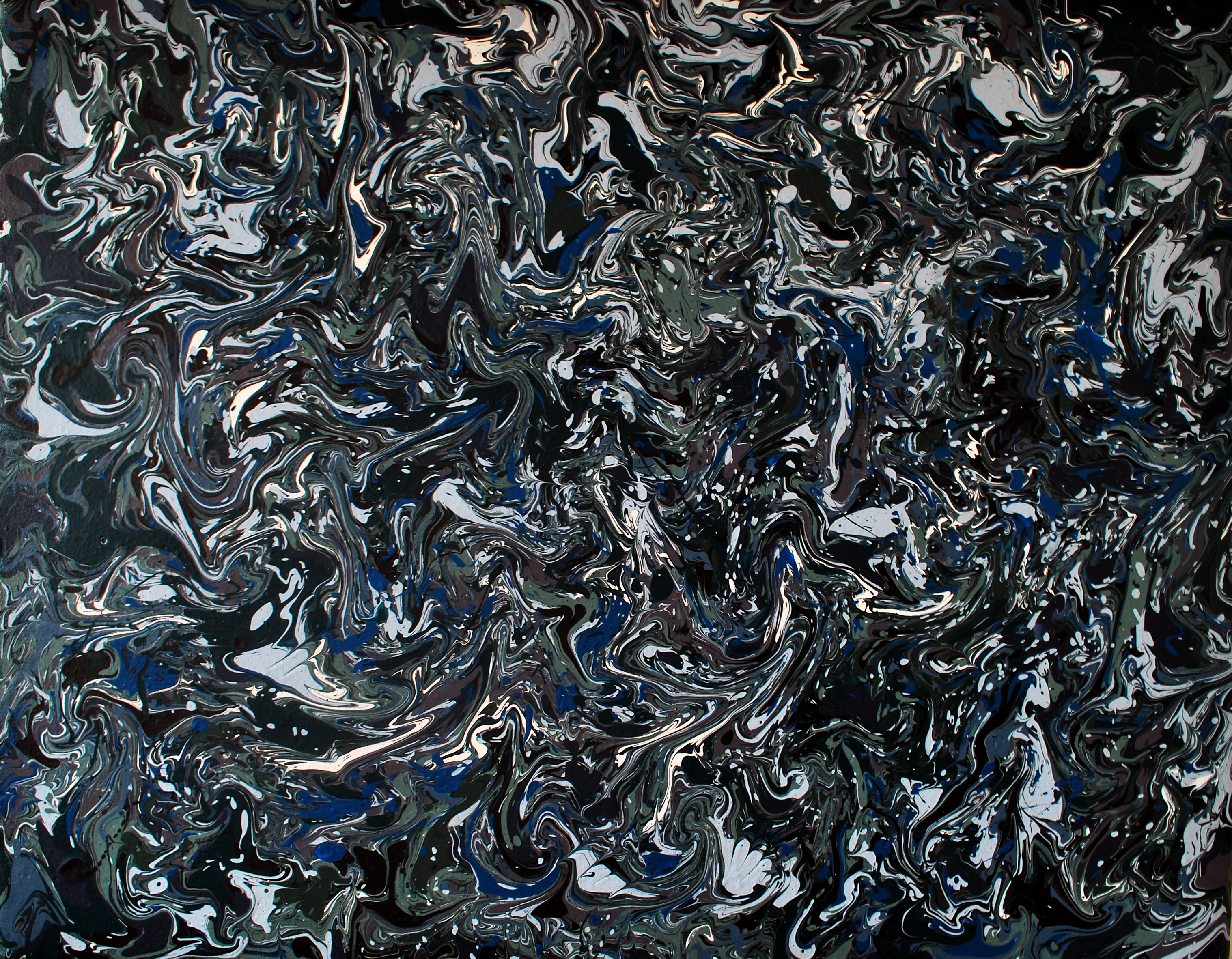 Metallics - Abstract Drip Painting By Phil Connor